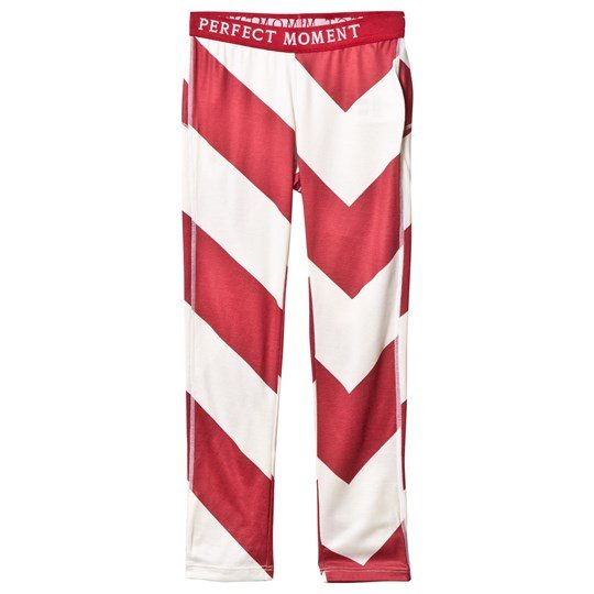 Perfect Moment Red and White Super Thermal Leggings Red/White