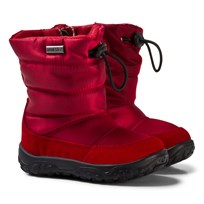 Naturino Red Print Poznurr Snow Boots Red