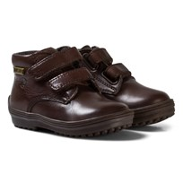 Naturino Brown Leather and Lined Velcro Boots BROWN 9102
