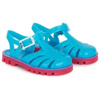 Project Jelly Aqua and Bubblegum Pink Jelly Sandals Purple