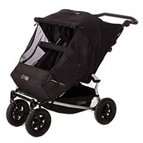 Mountain Buggy Solskydd, Duet, Dubbel Black