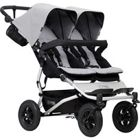 Mountain Buggy Syskonvagn, Duet v.3, Silver Hopea