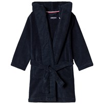 Tommy Hilfiger Navy Towelling Bathrobe 416