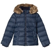 Tommy Hilfiger Navy Faux Fur Lined Hood Padded Jacket 431