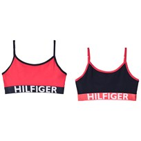 Tommy Hilfiger Pack of 2 Pink and Navy Branded Bralettes 643