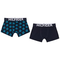 Tommy Hilfiger Pack of 2 Navy and Blue Star Print Branded Trunks 433