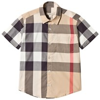 Burberry Short Sleeved Shirt Stone Check Black