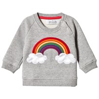 Anïve For The Minors Baby Sweater Rainbow Grey Melange Grey Marl