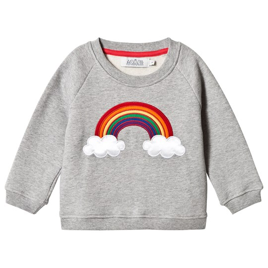 Anïve For The Minors Sweater Rainbow Grey Melange Grey Marl