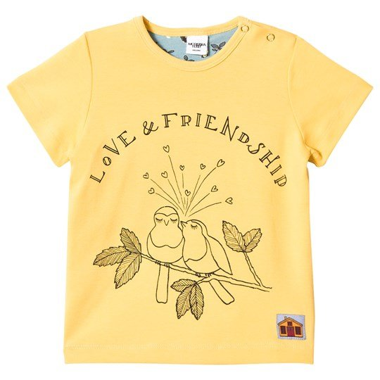 Modéerska Huset T-Shirt Love & Friendship Gul