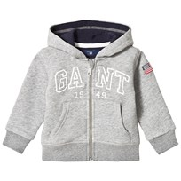 Gant Grey Embroidered Full Zip Hoody 93
