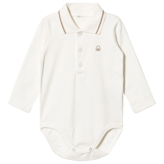 United Colors of Benetton Logo Polo Baby Body T-Shirt White White