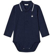 United Colors of Benetton L/S Logo Polo Body T-Shirt Navy Navy