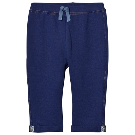 United Colors of Benetton Sweat Trouser With Contrast Colour Stitch Blue Blue