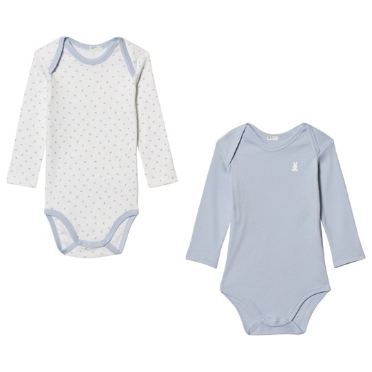 United Colors of Benetton Pack Baby Body Blå/Vit BLUE&WHITE