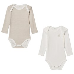 United Colors of Benetton 2 Pack Baby Body White/Beige