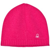 United Colors of Benetton Wool Knit Hat Fuschia Fuschia
