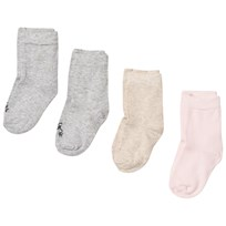 United Colors of Benetton 4 Pack Knit Socks Cream,Pink&Grey CREAM,PINK&GREY