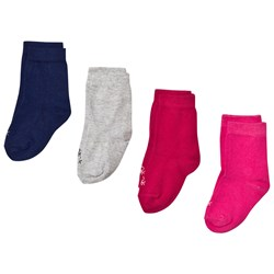 United Colors of Benetton 4 Pack Knit Socks Grey,Pink&Navy
