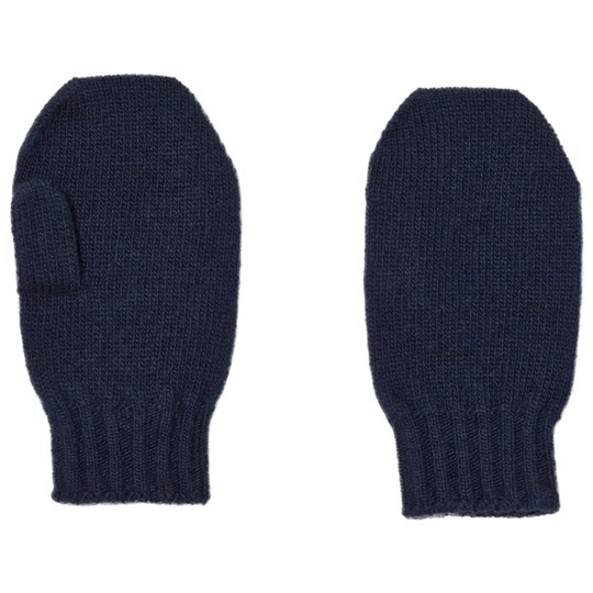 United Colors of Benetton Wool Mittens Navy Navy