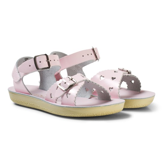 Salt-Water Sandals Sweetheart Premium Sandaler Shiny Pale Pink Pink