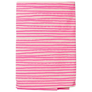 Image of Noe & Zoe Berlin 90x200 Junior Fitted Bedsheet Neon Pink Stripes One Size (426601)