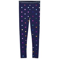 Stella McCartney Kids Navy Tula Multi Foil Stars Print Leggings 4272