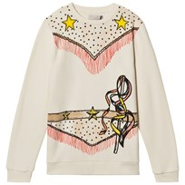 Stella McCartney Kids Cream Betty Cowgirl Sweater 9232
