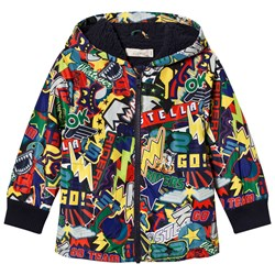 Stella McCartney Kids Multi Comic Scout Stickers Puffer Jacket