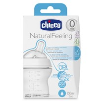Chicco NaturalFeeling Flaska 150ml White