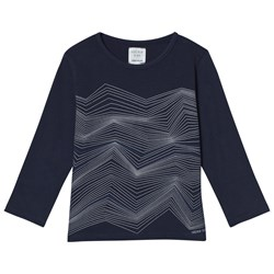 Carrément Beau Navy Graphic Print Long Sleeve Tee