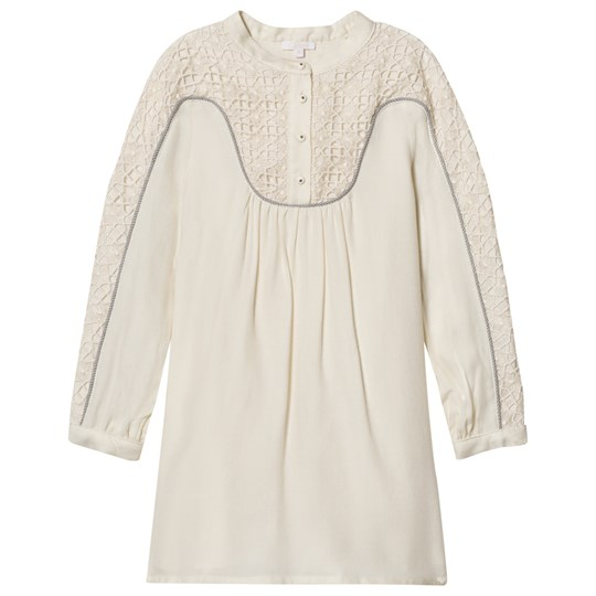 Chloé Off-White Lace Panel Dress 127