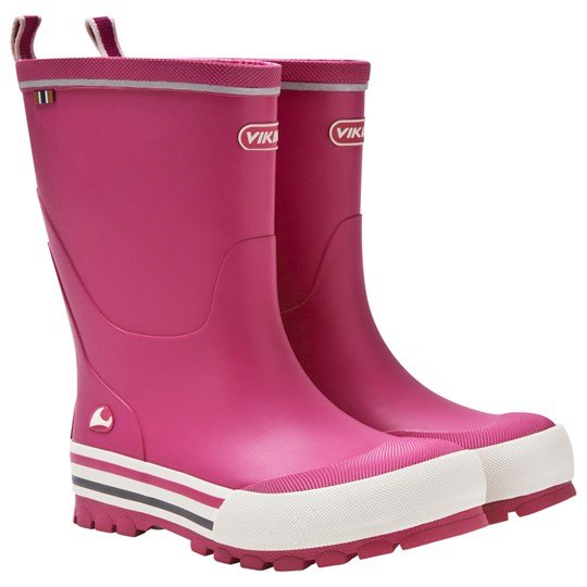 Viking Jolly Rain Boots Fuchsia/White Fuchsia/White
