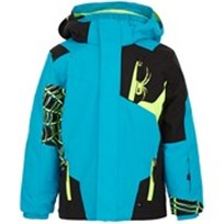 Spyder Blue Mini Quest Challenger Ski Jacket Black,Blue