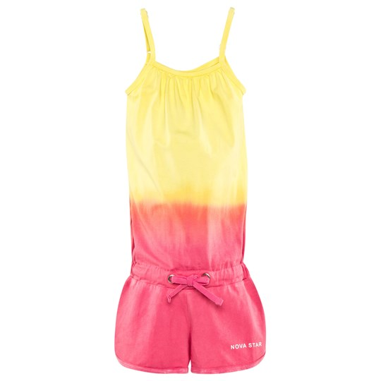 Nova Star Short Jumpsuit Dip Dyed Pink/Yellow