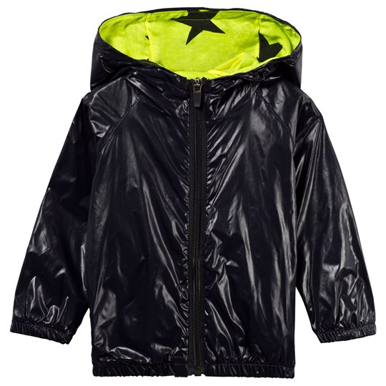 NUNUNU Nylon Coat Neon Black