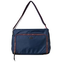 Paul Smith Junior Navy and Burgundy Changing Bag with Changing Mat 492