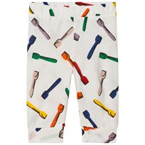 Stella McCartney Kids Off White Giggle Spoon Print Leggings 9581