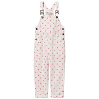 Stella McCartney Kids Exclusive White Neon Pink Embroidered Star Dungarees 9082