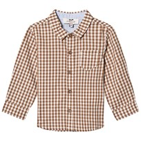 Cyrillus Gingham Check Shirt Camel 6409
