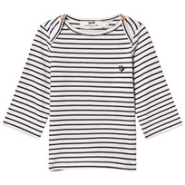 Cyrillus Navy and White Stripe Tee 6398