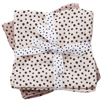 Done by Deer Burp Cloth 2 Pack Happy Dots Powder Powder