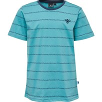 Hummel T-shirt, Lasse, Dusty Turquoise Blue