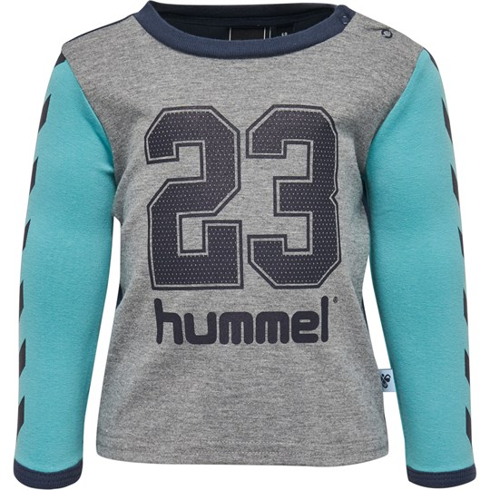 Hummel Turquoise and Grey Sporty Top пестрый