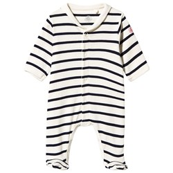 Petit Bateau Footed Baby Body Navy