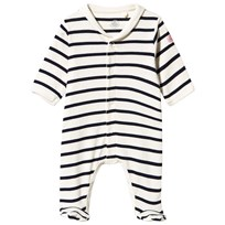 Petit Bateau Footed Baby Body Coquille/Abysse coquille/abysse