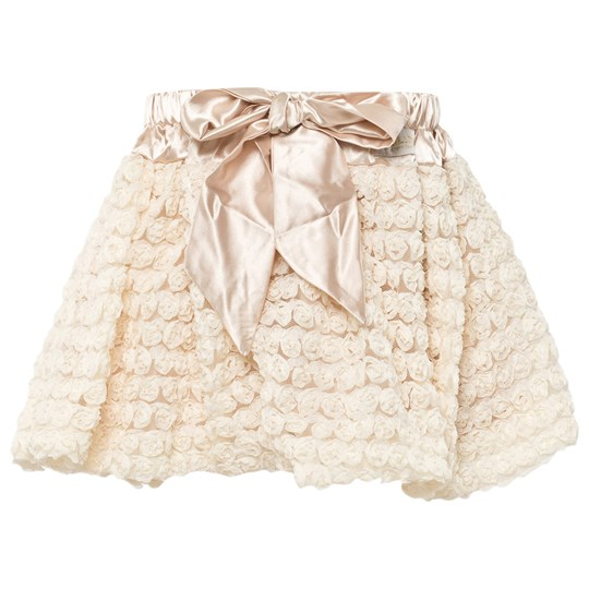 DOLLY by Le Petit Tom Rosettes Balloon Skirt Cream White