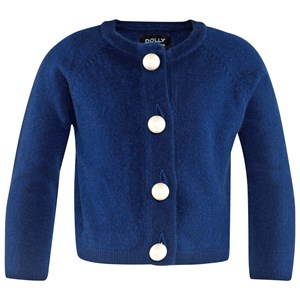 Image of DOLLY by Le Petit Tom Pearled Up Cardigan Cashmere Navy Medium (6-8 år) (2743769749)