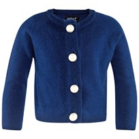 DOLLY by Le Petit Tom Pearled Up Cardigan Cashmere Navy Sand