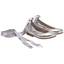 DOLLY by Le Petit Tom Ballerina Silver Leather Серебряный